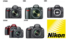 Reflex Nikon consumer: quale scegliere tra D3100, D5100 e D7000?