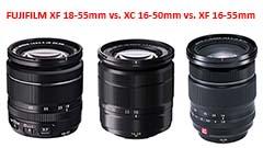 Fujifilm: zoom standard, quale comprare? XC16-50mm, XF18-55mm e XF16-55mm WR a confronto