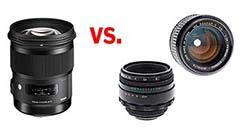 Sigma 50mm Art vs. obiettivi 'vintage'