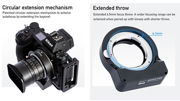 Megadap MTZ11 Leica M / Nikon Z Autofocus Adapter