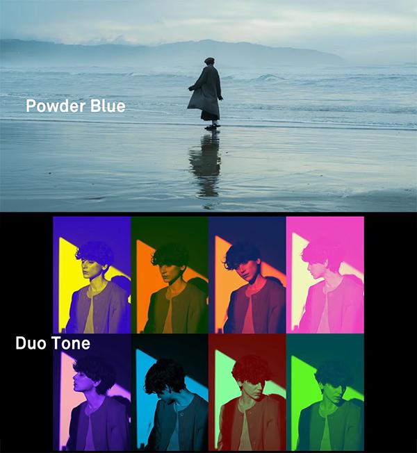 sigma fp color mode powder blue duotone